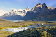 Photographers in Torres del Paine National Park, Chile.