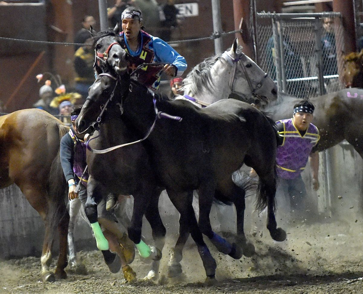 BILLINGS GAZETTE | Wet conditions mark opening night of Indian Relay