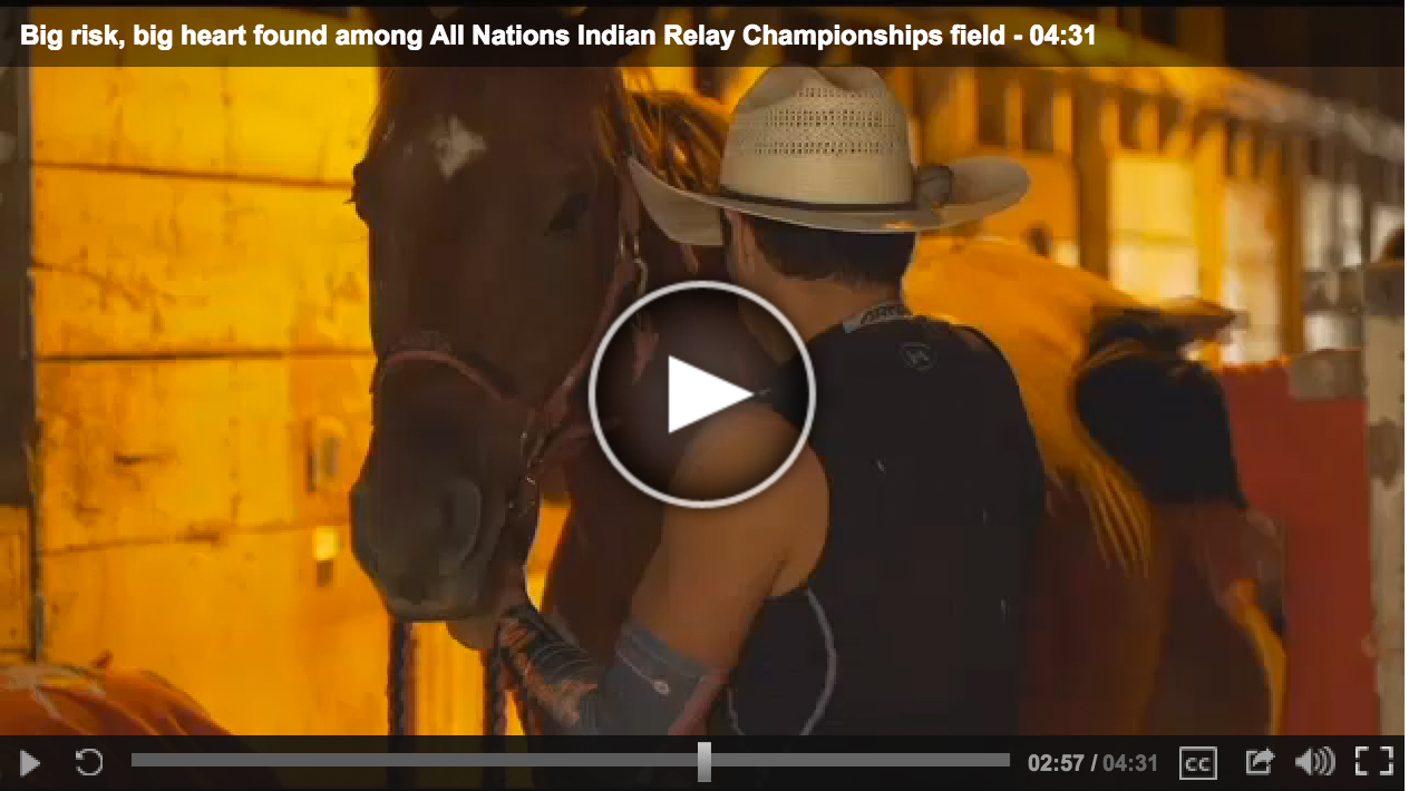 Q2 NEWS KTVQ.com | Big risk, big heart found among All Nations Indian Relay Championships field