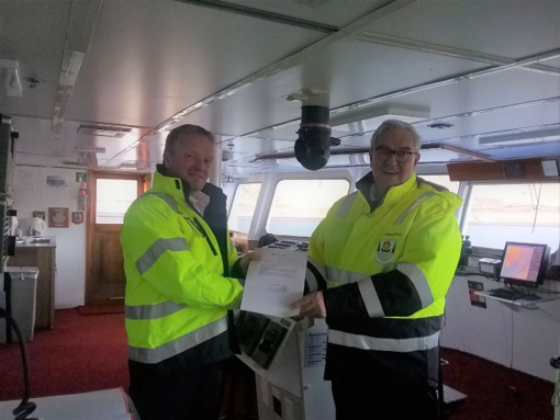 Captain of MV OCEAN DIAMOND Makes History
