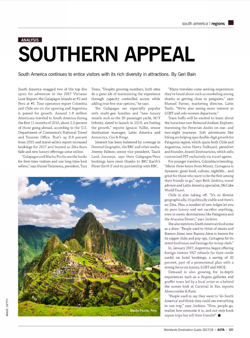 ASTA Worldwide Destination Guide 2017/2018 | Southern Appeal